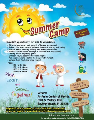 Al-Amin Center Summer Camp 2018